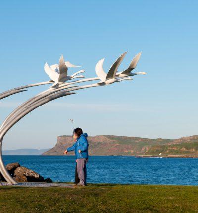 Children of Lir public art, Ballycastle Sea front
